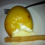 Lemon filled with cream